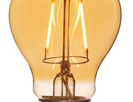 A19 2000 K, 210 lm lámpara LED con baño de ámbar